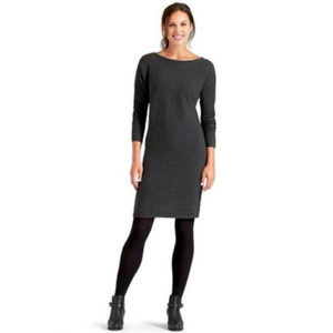 Athleta Ribbed Merino Wool Sweater Dress Gray S